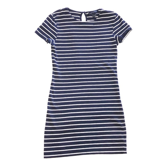 French Connection Dresses & Skirts - French Connection Navy & White T-shirt Dress